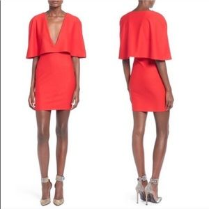 MISGUIDED RED CAPE DRESS NORDSTROM NWT
